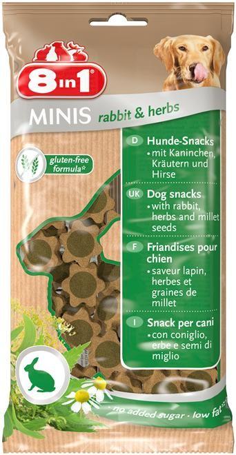 8in1 Minis Kanin & Urter, Stort utvalg Godbiter og Snacks til Hunder