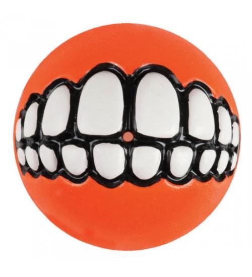 Rogz Grinz Smileball Orange, Stort utvalg lekeballer til Hund