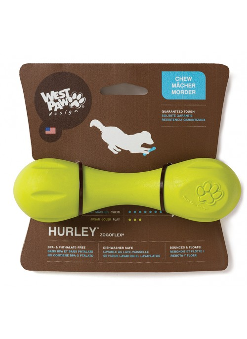 West Paw Hurley Bone Grønn, Vannleker og Flyteleker til Hund