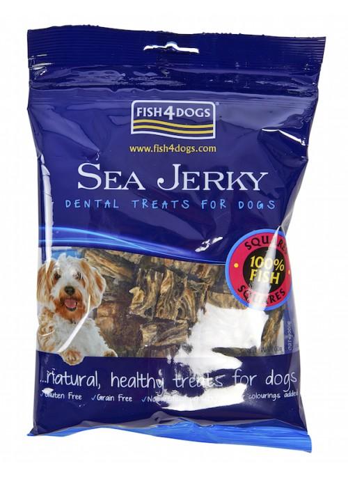 Fish4Dogs Sea Jerky Squares, Stort utvalg Godbiter og Snacks til Hunder