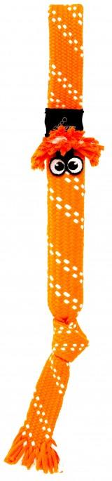 Rogz Yotz Scrubz Rope, Orange, Tauleker og Draleker til Hund