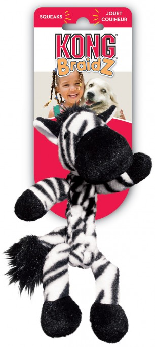 KONG Braidz Zebra, Stort utvalg forskjellige kosedyrleker til hund