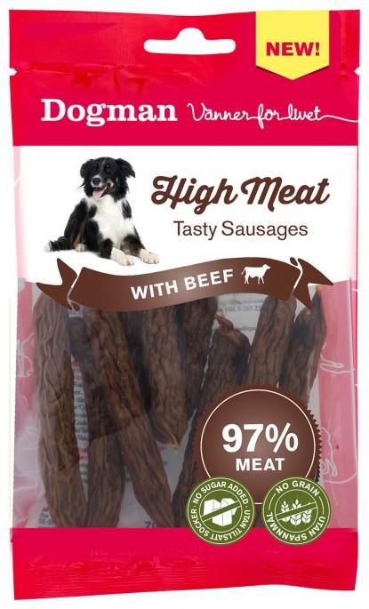 Dogman Kjøttpølser av Biff, Stort utvalg Godbiter og Snacks til Hunder