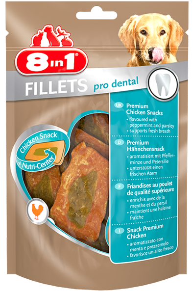 8in1 Kyllingfilet Pro Dental, Stort utvalg Godbiter og Snacks til Hunder