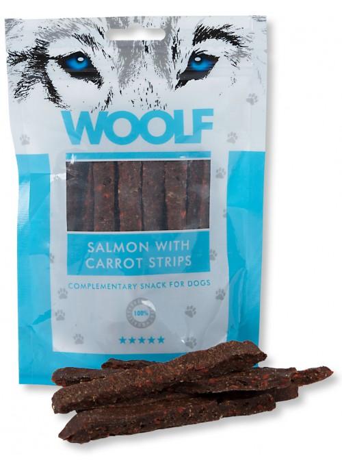 Woolf Laksestrips med Gulrot, Stort utvalg Godbiter og Snacks til Hunder