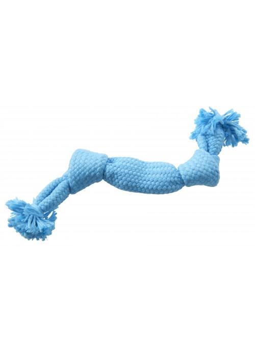 Buster Colour Squeak Rope, Lyseblå, Tauleker og Draleker til Hund