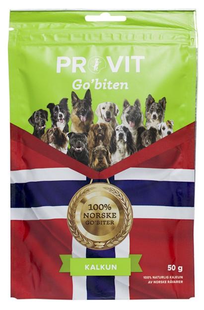 Provit Go´Biten Frysetørket Kalkun, Stort Utvalg Treningsgodbiter til Hund