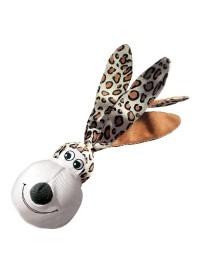 KONG Floppy Ear Wubba, Leopard