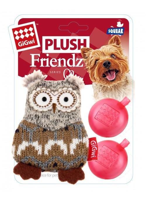 GiGwi Plush Friendz, Ugle, Stort utvalg forskjellige kosedyrleker til hund