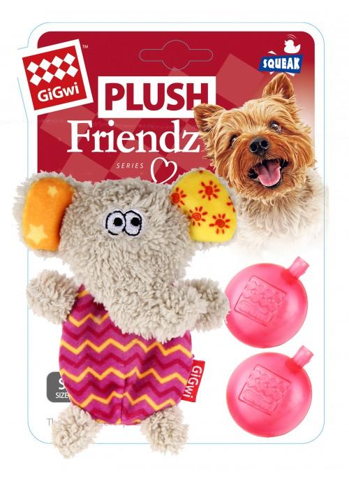 GiGwi Plush Friendz, Elefant, Stort utvalg forskjellige kosedyrleker til hund