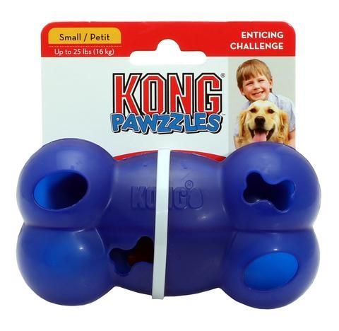 KONG Pawzzles Bone, Blå, Hjernetrimsleker og aktiviseringsleker