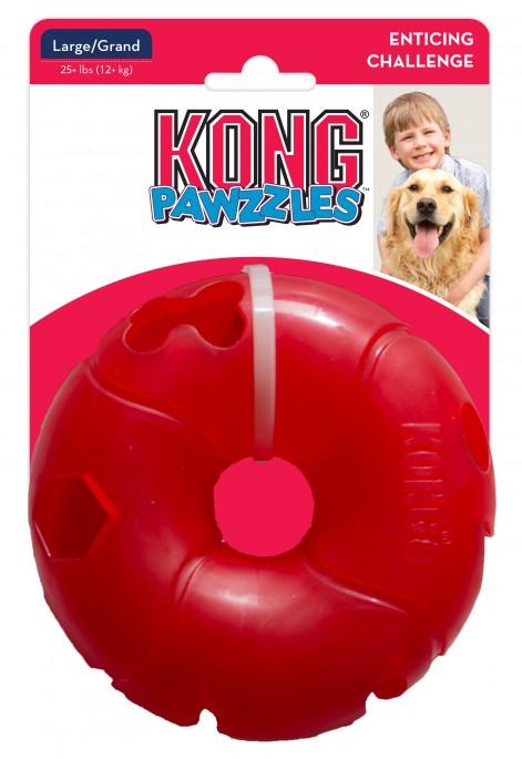 KONG Pawzzles Donut, Rød, Hjernetrimsleker og aktiviseringsleker