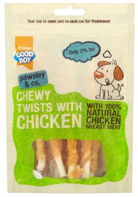 Good Boy Kylling-twists, Stort utvalg Godbiter og Snacks til Hunder