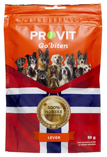 Provit Go´Biten Frysetørket Lever, Stort Utvalg Treningsgodbiter til Hund