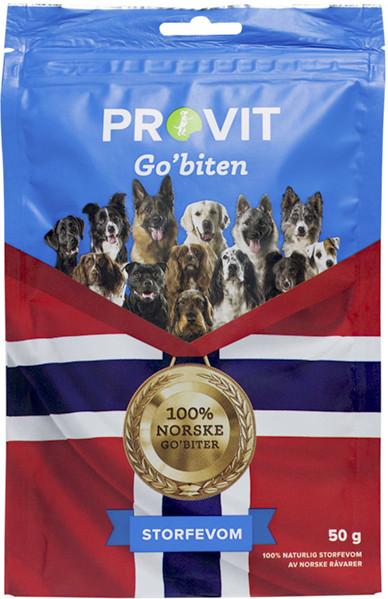 Provit Go´Biten Frysetørket Storfevom, Stort Utvalg Treningsgodbiter til Hund