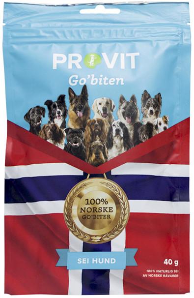 Provit Go´Biten Frysetørket Sei, Stort Utvalg Treningsgodbiter til Hund