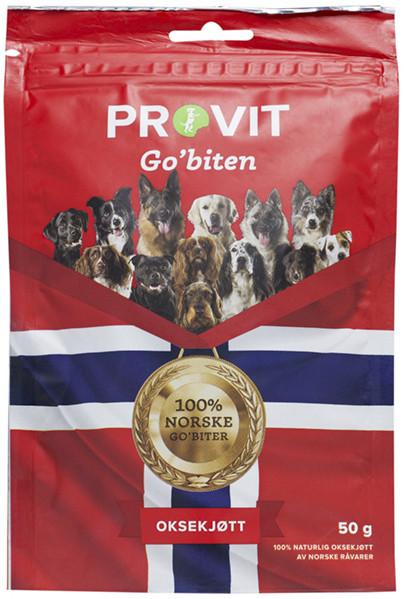 Provit Go´Biten Frysetørket Oksekjøtt, Stort Utvalg Treningsgodbiter til Hund