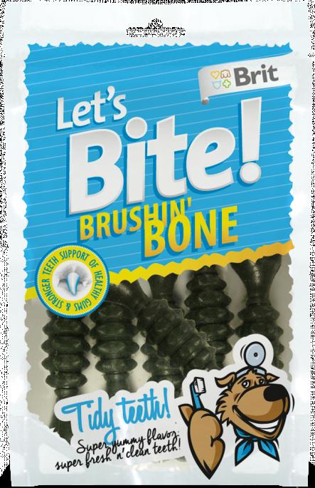 Brit Let´s Bite! Brushin' Bone, Tyggeben og Annen Tygg til Hund