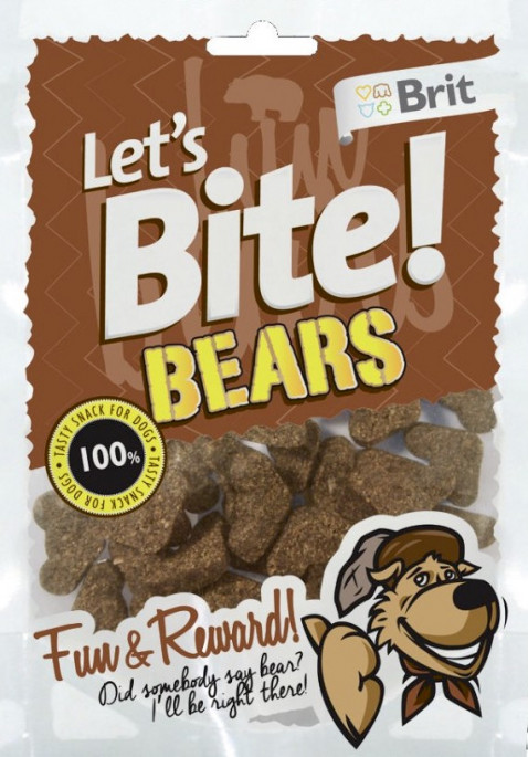 Brit Let´s Bite! Bears Godbiter, Stort Utvalg Treningsgodbiter til Hund