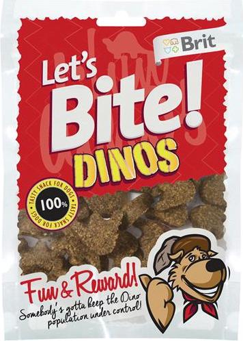 Brit Let´s Bite! Dinos Godbiter, Stort Utvalg Treningsgodbiter til Hund