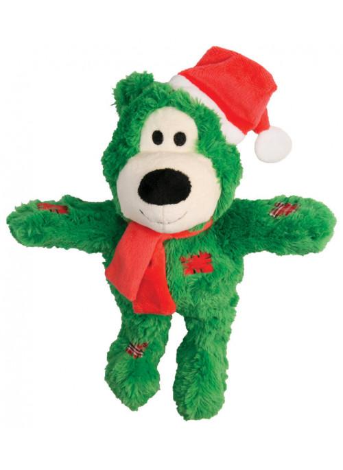 KONG Wild Knots julebjørn, Grønn, Stort utvalg forskjellige kosedyrleker til hund