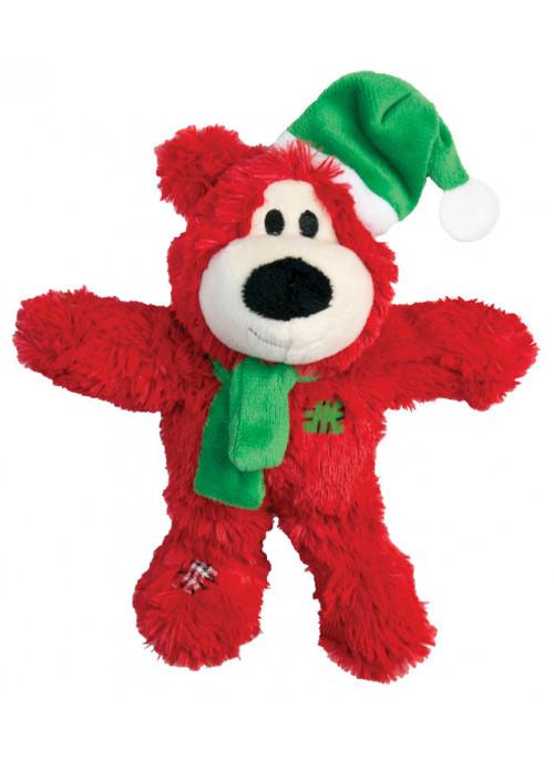 KONG Wild Knots julebjørn, Rød, Stort utvalg forskjellige kosedyrleker til hund