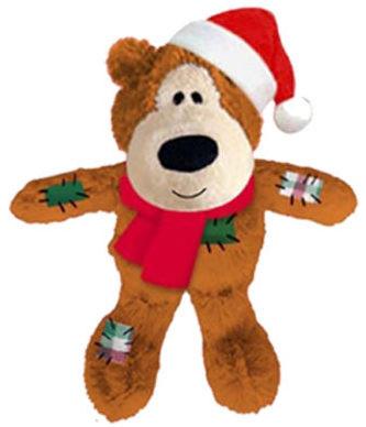 KONG Wild Knots julebjørn, Brun, Stort utvalg forskjellige kosedyrleker til hund