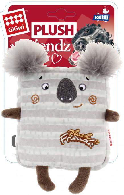 GiGwi Plush Friendz, Koala, Stort utvalg forskjellige kosedyrleker til hund