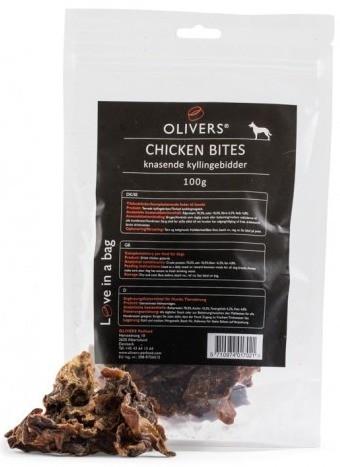 Oliver´s Knasende Kylling Snacks, Stort utvalg Godbiter og Snacks til Hunder
