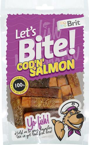 Brit Let´s Bite! Cod'n'Salmon, Stort utvalg Godbiter og Snacks til Hunder