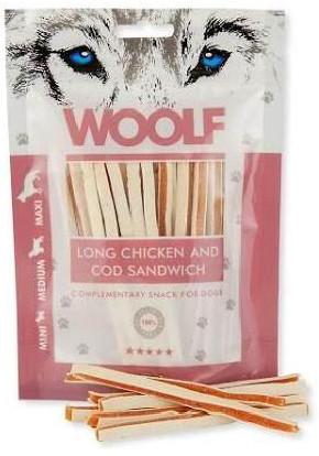 Woolf Lang Sandwich av Kylling og Torsk, Stort utvalg Godbiter og Snacks til Hunder