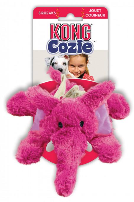 KONG Cozie Brights, Rosa Elefant, Stort utvalg forskjellige kosedyrleker til hund