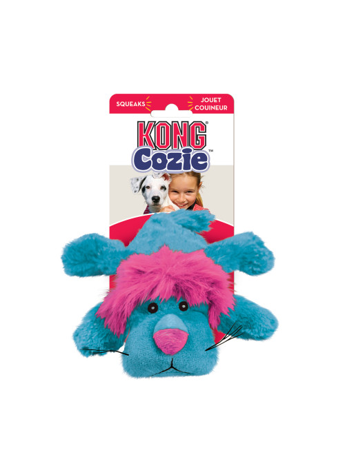 KONG Cozie Brights, Blå Løve, Stort utvalg forskjellige kosedyrleker til hund