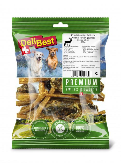 DeliBest Premium Hjortemix, Tyggeben og Annen Tygg til Hund
