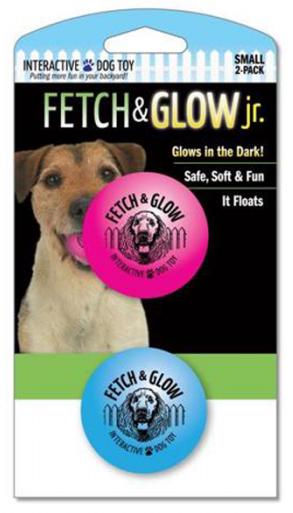 Fetch & glow Lysende Baller, Rosa + Blå, Stort utvalg lekeballer til Hund