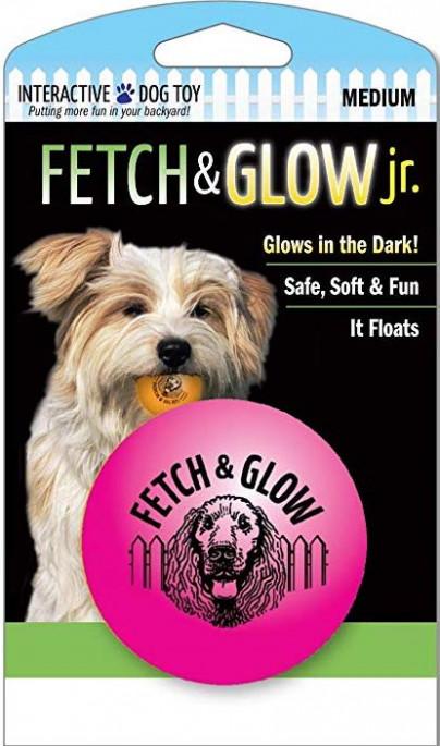 Fetch & glow Lysende Ball, Rosa, Stort utvalg lekeballer til Hund