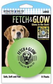Fetch & glow Lysende Ball, Grønn