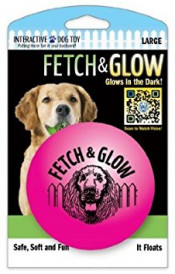 Fetch & glow Lysende Ball, Rosa