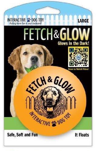 Fetch & glow Lysende Ball, Oransje, Stort utvalg lekeballer til Hund