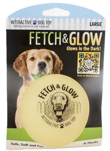Fetch & glow Lysende Ball, Gul, Stort utvalg lekeballer til Hund