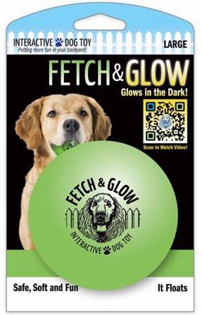 Fetch & glow Lysende Ball, Grønn, Stort utvalg lekeballer til Hund