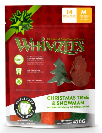 Whimzees Vegetar Juletygg - Limited Edition, Tyggeben og Annen Tygg til Hund
