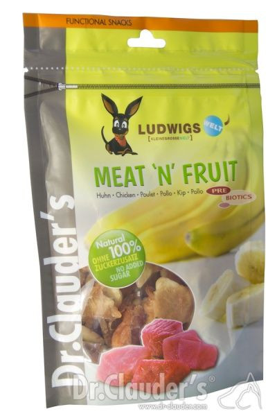 Dr.Clauder´s Meat'n'Fruit Banan & Kylling, Stort utvalg Godbiter og Snacks til Hunder