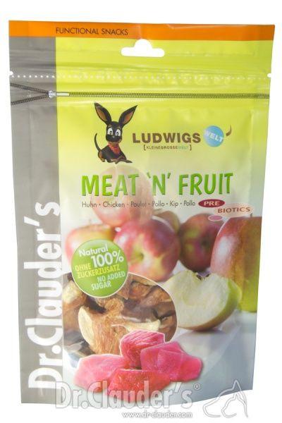 Dr.Clauder´s Meat'n'Fruit Eple & Kylling, Stort utvalg Godbiter og Snacks til Hunder