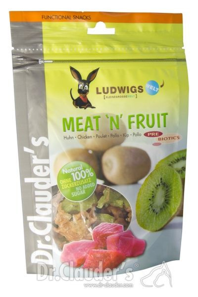 Dr.Clauder´s Meat'n'Fruit Kiwi & Kylling, Stort utvalg Godbiter og Snacks til Hunder