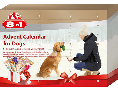 8in1 8in1 Adventskalender, Stort utvalg Godbiter og Snacks til Hunder