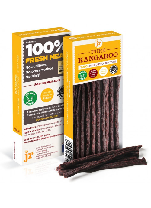 JR Products Pure Kenguru, Sticks, Naturtygg 100% rent