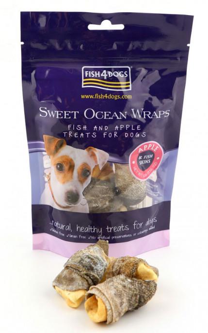 Fish4Dogs Sweet Ocean Wrap, Stort utvalg Godbiter og Snacks til Hunder