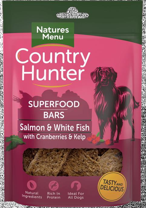 Natures Menu Superfood Bars - Fisk, Tranebær & Tang, Stort utvalg Godbiter og Snacks til Hunder
