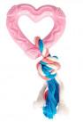 Trixie Valpeleke Gummihjerte med Tau - Rosa
